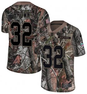 Wholesale Cheap Nike Browns #32 Jim Brown Camo Youth Stitched NFL Limited Rush Realtree Jersey