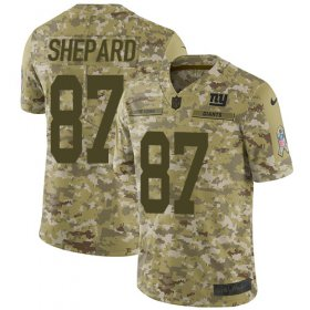 Wholesale Cheap Nike Giants #87 Sterling Shepard Camo Youth Stitched NFL Limited 2018 Salute to Service Jersey