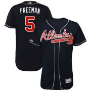 Wholesale Cheap Braves #5 Freddie Freeman Navy Blue Flexbase Authentic Collection Stitched MLB Jersey