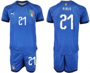 Wholesale Cheap Italy #21 Pirlo Home Soccer Country Jersey