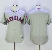 Wholesale Cheap Indians Blank Grey Flexbase Authentic Collection Stitched MLB Jersey