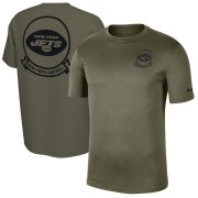 Wholesale Cheap Men's New York Jets Nike Olive 2019 Salute to Service Sideline Seal Legend Performance T-Shirt