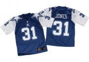Wholesale Nike Cowboys #31 Byron Jones Navy Blue/White Throwback Men's Stitched NFL Elite Jersey