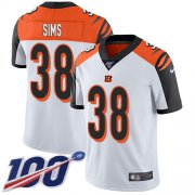 Wholesale Cheap Nike Bengals #38 LeShaun Sims White Youth Stitched NFL 100th Season Vapor Untouchable Limited Jersey