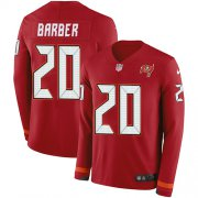 Wholesale Cheap Nike Buccaneers #20 Ronde Barber Red Team Color Men's Stitched NFL Limited Therma Long Sleeve Jersey