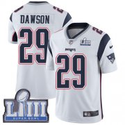 Wholesale Cheap Nike Patriots #29 Duke Dawson White Super Bowl LIII Bound Men's Stitched NFL Vapor Untouchable Limited Jersey