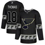 Wholesale Cheap Adidas Blues #18 Robert Thomas Black Authentic Team Logo Fashion Stitched NHL Jersey