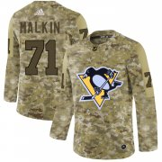 Wholesale Cheap Adidas Penguins #71 Evgeni Malkin Camo Authentic Stitched NHL Jersey