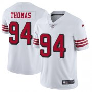 Wholesale Cheap Nike 49ers #94 Solomon Thomas White Rush Youth Stitched NFL Vapor Untouchable Limited Jersey