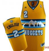 Wholesale Cheap Denver Nuggets #2 Alex English Yellow Swingman Jersey