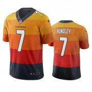 Wholesale Cheap Arizona Cardinals #7 Brett Hundley Sunset Orange Vapor Limited City Edition NFL Jersey