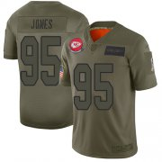 Wholesale Cheap Nike Chiefs #95 Chris Jones Camo Youth Stitched NFL Limited 2019 Salute to Service Jersey
