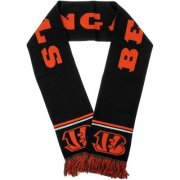 Wholesale Cheap Cincinnati Bengals Black Metallic Thread Scarf