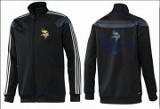 Wholesale Cheap NFL Minnesota Vikings Victory Jacket Black_2