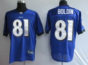 Wholesale Cheap Ravens #81 Anquan Boldin Purple Stitched NFL Jersey