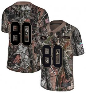 Wholesale Cheap Nike 49ers #80 Jerry Rice Camo Men\'s Stitched NFL Limited Rush Realtree Jersey