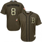 Wholesale Red Sox #8 Carl Yastrzemski Green Salute to Service Stitched Youth Baseball Jersey