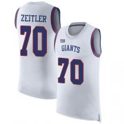 Wholesale Cheap Nike Giants #70 Kevin Zeitler White Men's Stitched NFL Limited Rush Tank Top Jersey