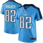 Wholesale Cheap Nike Titans #82 Delanie Walker Light Blue Women's Stitched NFL Limited Rush Jersey