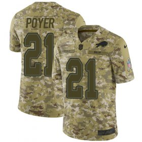 Wholesale Cheap Nike Bills #21 Jordan Poyer Camo Youth Stitched NFL Limited 2018 Salute to Service Jersey