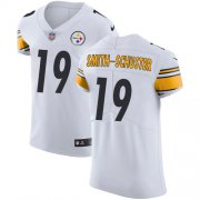 Wholesale Cheap Nike Steelers #19 JuJu Smith-Schuster White Men's Stitched NFL Vapor Untouchable Elite Jersey