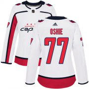 Wholesale Cheap Adidas Capitals #77 T.J. Oshie White Road Authentic Women's Stitched NHL Jersey