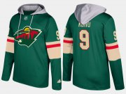 Wholesale Cheap Wild #9 Mikko Koivu Green Name And Number Hoodie