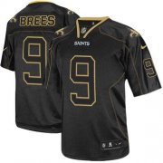 Wholesale Cheap Nike Saints #9 Drew Brees Lights Out Black Youth Stitched NFL Elite Jersey