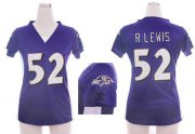 Wholesale Cheap Nike Ravens #52 Ray Lewis Purple Team Color Draft Him Name & Number Top Women's Stitched NFL Elite Jersey