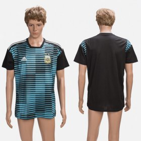 Wholesale Cheap Argentina Blank Black Training Soccer Country Jersey