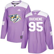Wholesale Cheap Adidas Predators #95 Matt Duchene Purple Authentic Fights Cancer Stitched Youth NHL Jersey