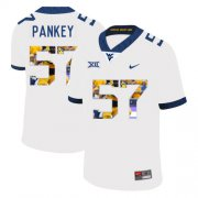 Wholesale Cheap West Virginia Mountaineers 57 Adam Pankey White Fashion College Football Jersey