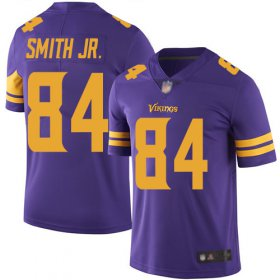 Wholesale Cheap Nike Vikings #84 Irv Smith Jr. Purple Men\'s Stitched NFL Limited Rush Jersey