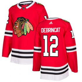 Wholesale Cheap Adidas Blackhawks #12 Alex DeBrincat Red Home Authentic Stitched Youth NHL Jersey