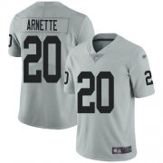 Wholesale Cheap Nike Raiders #20 Damon Arnette Silver Men's Stitched NFL Limited Inverted Legend Jersey