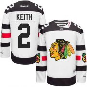 Wholesale Cheap Blackhawks #2 Duncan Keith White 2016 Stadium Series Stitched Youth NHL Jersey
