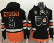 Wholesale Cheap Flyers #9 Ivan Provorov Black Name & Number Pullover NHL Hoodie