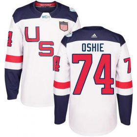 Wholesale Cheap Team USA #74 T. J. Oshie White 2016 World Cup Stitched NHL Jersey