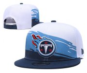 Wholesale Cheap Titans Team Logo Navy Blue White Adjustable Hat TX