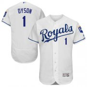Wholesale Cheap Royals #1 Jarrod Dyson White Flexbase Authentic Collection Stitched MLB Jersey