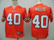 Wholesale Cheap Browns #40 Peyton Hillis Orange Stitched NFL Jersey