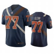 Wholesale Cheap Cincinnati Bengals #77 Cordy Glenn Navy Vapor Limited City Edition NFL Jersey