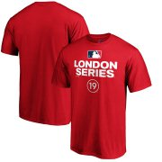 Wholesale Cheap MLB Majestic 2019 London Series Primary Logo T-Shirt - Red
