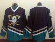 Wholesale Cheap Ducks Blank Purple/Turquoise CCM Throwback Stitched NHL Jersey