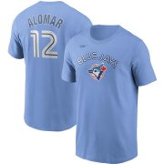 Wholesale Cheap Toronto Blue Jays #12 Roberto Alomar Nike Cooperstown Collection Name & Number T-Shirt Powder Blue