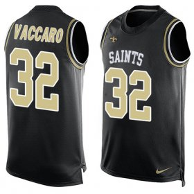 Wholesale Cheap Nike Saints #32 Kenny Vaccaro Black Team Color Men\'s Stitched NFL Limited Tank Top Jersey
