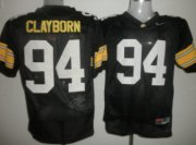 Wholesale Cheap Iowa Hawkeyes #94 Adrian Clayborn Black Jersey