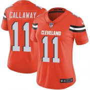 Wholesale Cheap Nike Browns #11 Antonio Callaway Orange Alternate Women's Stitched NFL Vapor Untouchable Limited Jersey