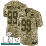 Wholesale Cheap Nike 49ers #99 DeForest Buckner Camo Super Bowl LIV 2020 Men's Stitched NFL Limited 2018 Salute To Service Jersey