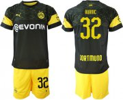Wholesale Cheap Dortmund #32 Burnic Away Soccer Club Jersey